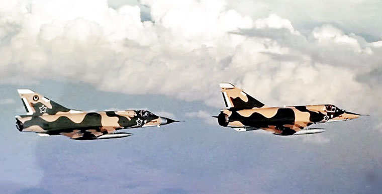 Mirage III in formation