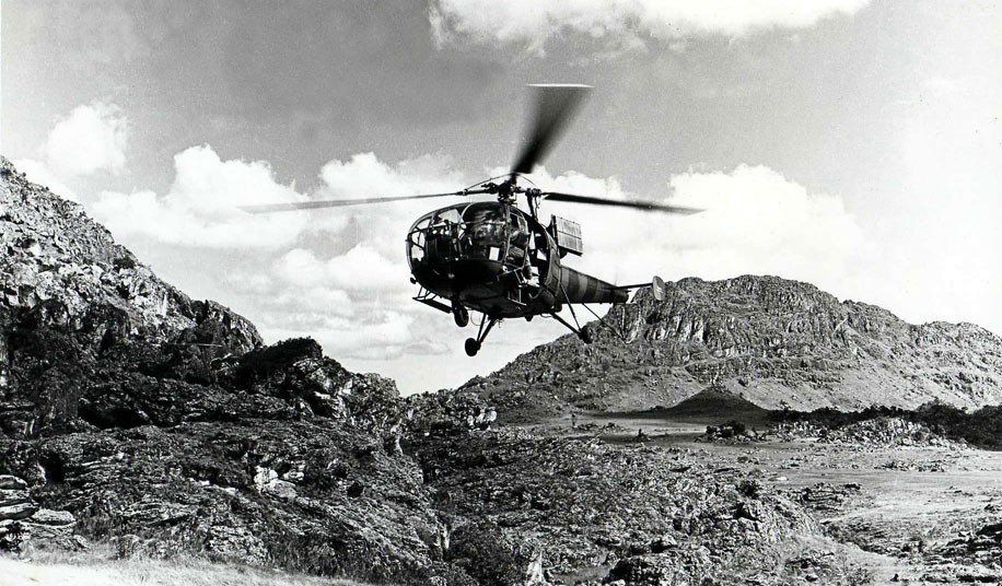 Alouette III in the Chimanimani Mountains
