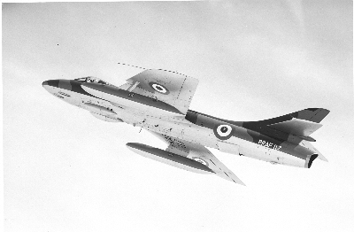 Hawker Hunter FGA 9 in Royal Rhodesian Air Force livery.