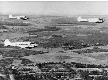 Three Avro Ansons being ferried from the UK - June 1948