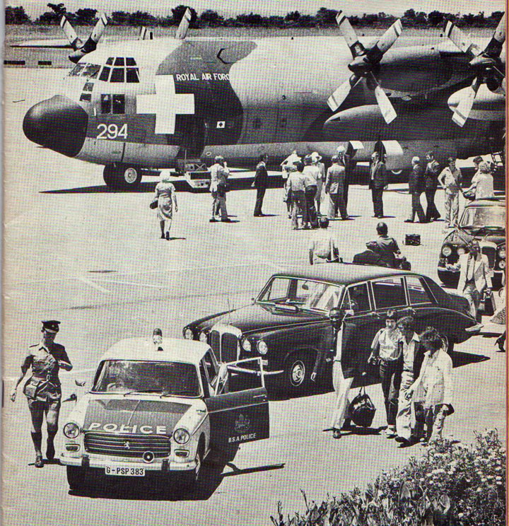 The arrival of the Governor, Lord Soames, in Bulawayo on 4 January 1980